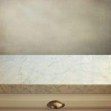 Marmurowy kuchenny kontuar obrazy stock