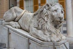 Marmurowy lew Fotografia Stock
