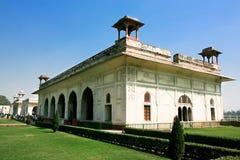 Marmurowy pałac, Wśrodku Sławnego Delhi Rewolucjonistki Fortu Zdjęcia Stock