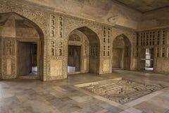 Marmurowy pokój Maharaja w Agra forcie India Obrazy Royalty Free