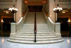 marmurowy schody Obrazy Royalty Free