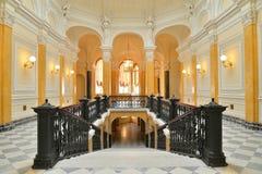 Marmurowy schody w Uroczystym Gatchina pałac Obrazy Stock