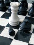 Marmurowy szachy zdjęcia royalty free