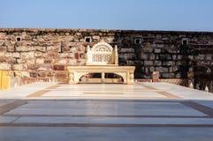 Marmurowy tron w Mehrangarh forcie, Rajasthan, Jodhpur, India Zdjęcie Stock