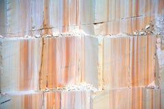 Marmurowy łup, Thassos wyspa, Grecja Fotografia Stock