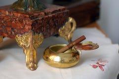Marmurowy zegarek w rocznika stylu Obraz Royalty Free