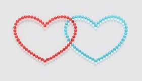 Marmuru serce A1 Zdjęcia Stock