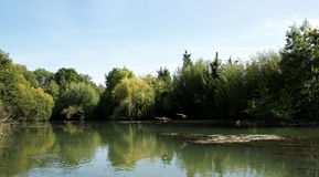 Marne  river in paris suburbs Royalty Free Stock Photography