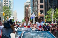 Marnie McBean in Pride Parade in Toronto Stock Image
