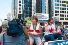Marnie McBean in Pride Parade in Toronto Royalty Free Stock Images