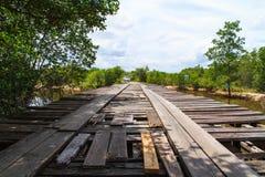 Marniejący drewniany most Zdjęcie Royalty Free