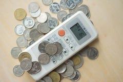 Marnotrawny wydatki pojęcie, Odgórny widok Obraz Stock