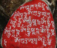 A marnyi stone in Tibet Stock Photography