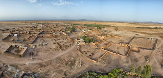 Maroc Aerial view from baloon Royalty Free Stock Images