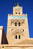 Maroc africa   the blue. In maroc africa   minaret and the blue  sky Stock Images
