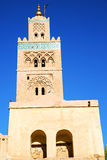 In maroc africa and the blue    sky Stock Images