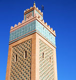 In maroc africa  and the blue    sky Royalty Free Stock Photo