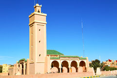 In maroc africa minaret and Royalty Free Stock Photography