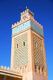 Maroc africa minaret   the blue    sky Royalty Free Stock Photo