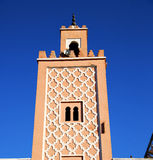 In maroc africa minaret and the blue    sky Stock Photography