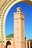 Maroc africa minaret and the blue Stock Photography