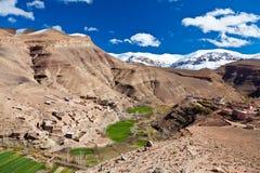 Maroc : horizontal de vallée de Dades Photographie stock libre de droits