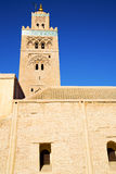 Maroc minaret  the blue Royalty Free Stock Photo