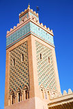 In maroc   minaret and the blue    sky Royalty Free Stock Photos