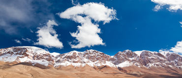 Maroc mountain. Snowed High Atlas, Dades Valley Stock Images
