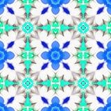 Marocain de l'eau de fractale d'aquarelle Image libre de droits