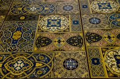 Maroccan tile for background. Part of the mosque. Maroccan tile for background stock image