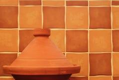 Marocchino normale Tagine dell'argilla Fotografia Stock Libera da Diritti