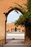 Marocco,庭院在Baia宫殿 免版税库存照片