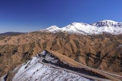 Marocco - atlant góry droga obraz stock