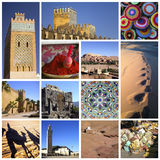Marocco collage royaltyfri foto