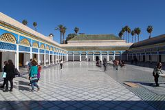 The El Bahia Palace in marrakesh Royalty Free Stock Photos