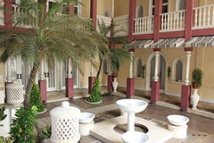Marocco Home. The beautiful Architecture and islamic art galerry royalty free stock photo