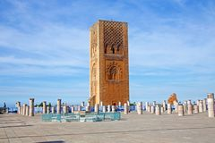 Marocco,Rabat. The Hassan Tower. Opposite the Mausoleum of King Mohamed V Royalty Free Stock Photography