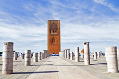 Marocco,Rabat. The Hassan Tower. Opposite the Mausoleum of King Mohamed V Stock Photography