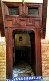 Marockansk arkitektur - konst av dekoren arkivbild