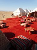 Marockansk bivack fotografering för bildbyråer