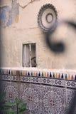 Marockansk borggård Arkivbild