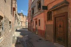 Marockansk bostads- gata Royaltyfri Fotografi