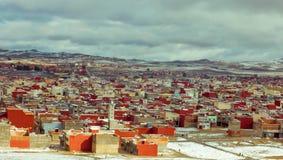 Marockansk byggnad i vinter Royaltyfria Foton