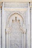 Marockansk dekor av mausoleet av Mohammed V i Rabat Royaltyfria Foton