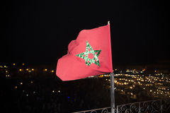 Marockansk flagga Fotografering för Bildbyråer