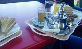 Marockansk frukost arkivbilder