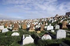 Marockansk kyrkogård, Rabat Arkivfoto