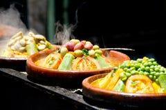 Marockansk mat Arkivbild