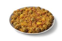 Marockansk maträtt med sardinfärs Arkivbild